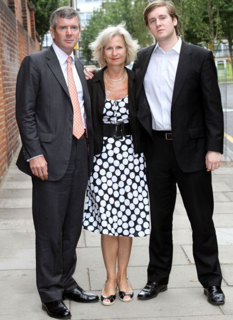 Bereaved: Louise's parents and her brother Tommy outside court after they attended the inquest into her death today