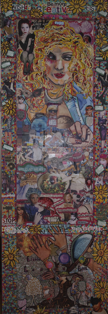 Claire's wonderful collage for Louise. click for more details